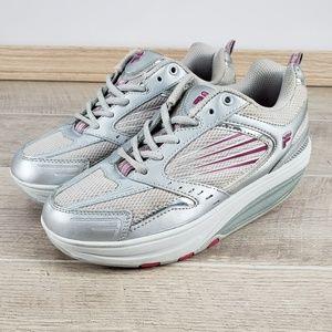 FILA Fit Sz 8 M Walk-N-Sculpt Toning Rocker Shoes